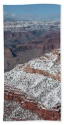Winter's Touch At The Grand Canyon Bath Towel