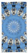 Wire Flowers And Butterflies Bath Towel