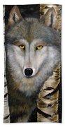 Wolf Beauty Bath Towel