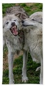 Wolf Confab Bath Towel