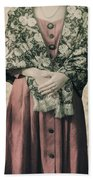 Woman With Shawl Bath Towel