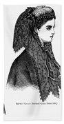 Womens Hats, 1868 Bath Towel