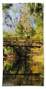 Wooden Bridge Over The Hillsborough River Bath Towel