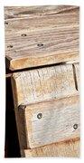 Wooden Crate Bath Towel