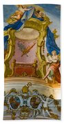 World Heritage Frescoes Of Wieskirche Church In Bavaria Bath Towel