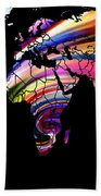 World Map Abstract Painting 2 Bath Towel