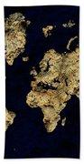 World Map Rock Bath Towel
