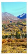Wrangell Mountains Colors Bath Towel