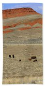 Wyoming Red Cliffs And Buffalo Bath Towel