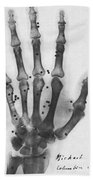 X-ray Of A Hand With Buckshot Bath Towel