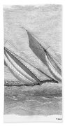 Yacht Race, 1854 Bath Towel