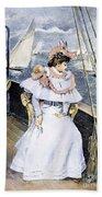 Yachting Costume, 1894 Bath Towel