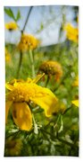 Yellow Blooming Wildflowers Bath Towel