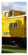 Yellow Caboose Hand Towel