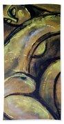 Yellow Caryatid - Nudes Gallery Bath Towel