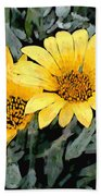 Yellow Gazanias Bath Towel