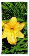 Yellow Lily  Bath Towel