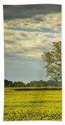 Yellow Meadow Bath Towel
