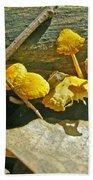 Yellow Sandpaper Mushrooms Bath Towel