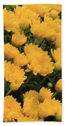 Yellow Sea Of Flowers Bath Towel