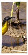 Yellow Wagtail Bath Towel
