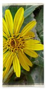 Yellow Wildflower Bath Towel