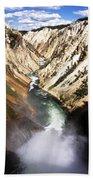 Yellowstone River Below Lower Falls Bath Towel