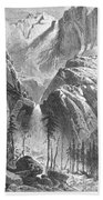 Yosemite Falls, 1874 Bath Towel