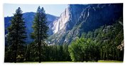 Yosemite Falls From The Ahwahnee Bath Towel