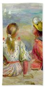 Young Girls On The Beach Bath Towel