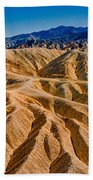 Zabriskie Point Badlands Bath Towel