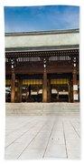 Zen Temple Under Blue Sky  Bath Towel