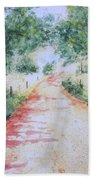 A Country Road Bath Towel