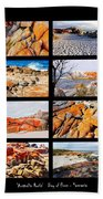' Australia Rocks ' - Bay Of Fires - Tasmania Bath Towel