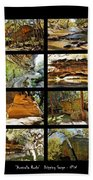 ' Australia Rocks ' - The Dripping Gorge - New South Wales Bath Towel