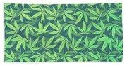 Cannabis   Hemp  420   Marijuana  Pattern Bath Towel