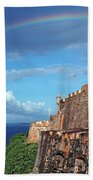 El Morro Fortress Rainbow Bath Towel