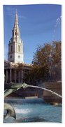 London - Trafalgar Square  Bath Towel