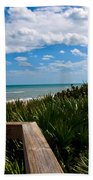 Melbourne Beach On The East Coast Of Florida Bath Towel