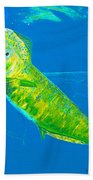 Prized Dolphin Painting Bath Towel
