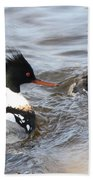 Red-breasted-merganser-ducks Bath Towel