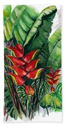 Tiger Claw .. Heliconia Bath Towel