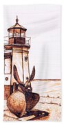 Vermilion Lighthouse Bath Towel
