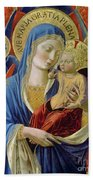 Virgin And Child With Angels Bath Towel