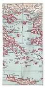 Map: Ancient Greece Bath Towel