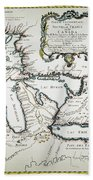 Great Lakes Map, 1755 Bath Towel