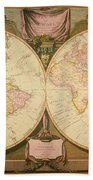 Captain Cook: Map, 1808 Bath Towel