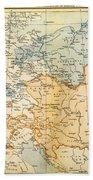 Austrian Empire Map, 1795 Bath Towel