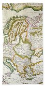 Map Of Europe, 1623 Bath Towel