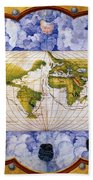 World Map Bath Towel
